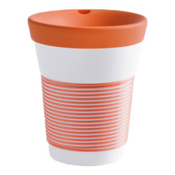 "Mug with a lid Kahla ""Cupit To Go Coral Sunset"", 350 ml"