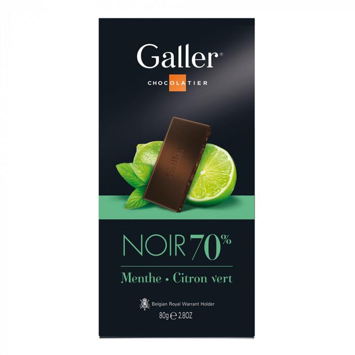 "Czekolada Galler ""Dark Mint Lime, 80 g"
