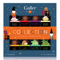 "Rasia mini suklaalevyt Galler ""Mini Tablets Collection Christmas"", 24 kpl."