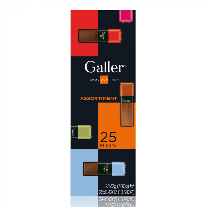 "Gift box mini bars Galler ""Assortment"", 25 pcs."