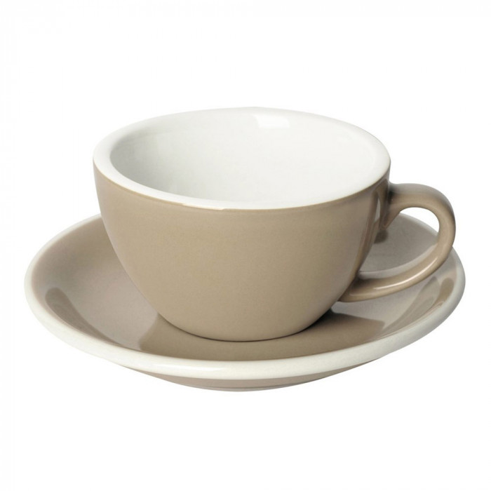 "Cappuccino cup with a saucer Loveramics ""Egg Taupe"", 250 ml"
