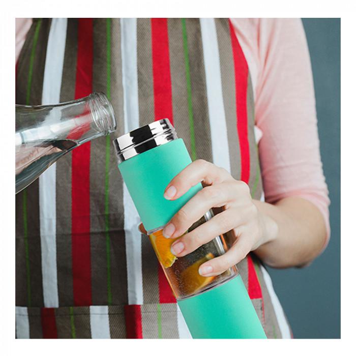 """Vattenflaska Asobu """"Flavour U See Mint"""", 430 ml"""