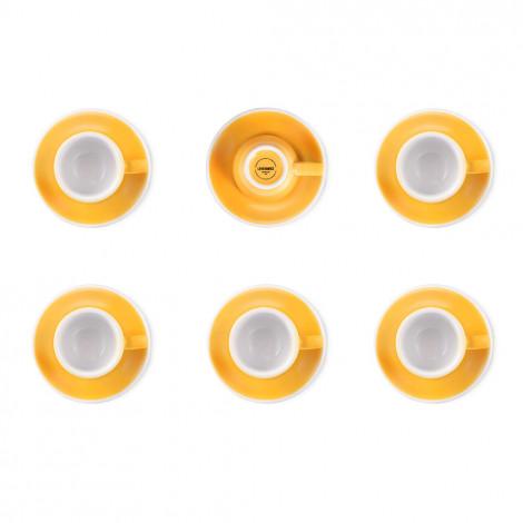 """Set von Espressotassen mit Untertassen Loveramics """"Egg Yellow"""", 80 ml, 6 Stk."""