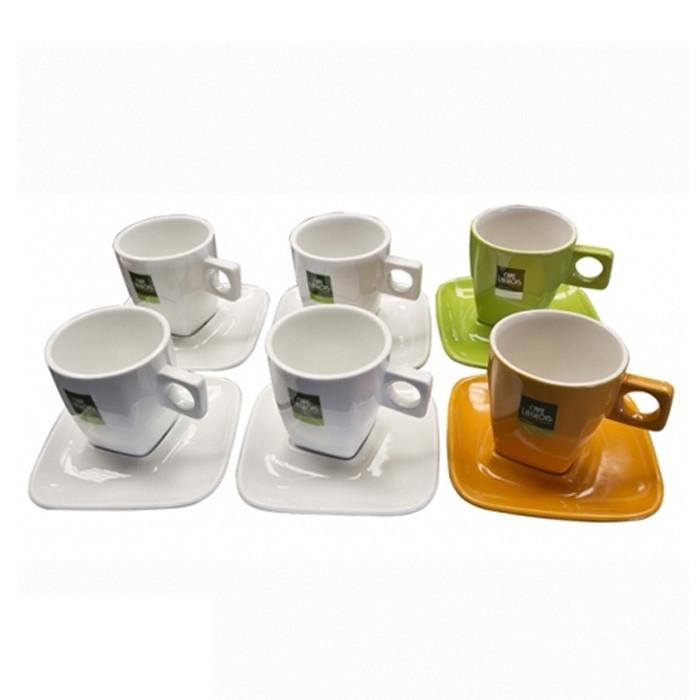 """Kohvi- ja Cappuccino-tassid """"CAFÉ LIEGEOIS"""" 6 tk."""