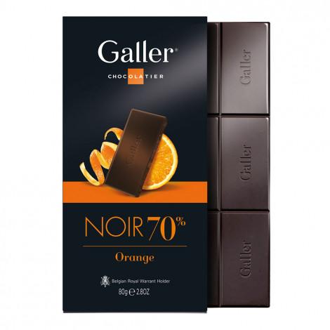 "Šokolādes tāfelīte Galler ""Dark Orange"", 80 g"