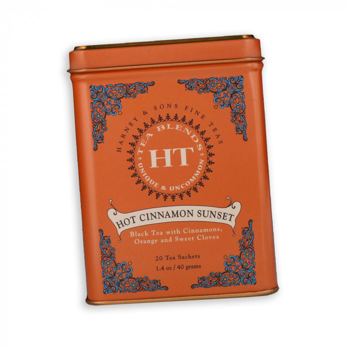 """Aromaatne must tee Harney&Sons """"Hot Cinnamon Sunset"""", 20 tk."""