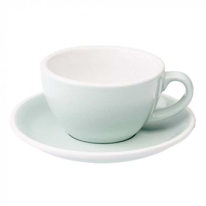"Cappuccino cup with a saucer Loveramics ""Egg River Blue"", 250 ml"