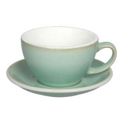 "Filiżanka do café latte ze spodkiem Loveramics ""Egg Basil"", 300 ml"