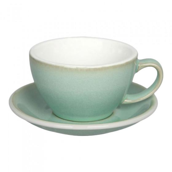 """Café latte-kuppi ja lautanen Loveramics """"Egg Basil"""", 300 ml"""