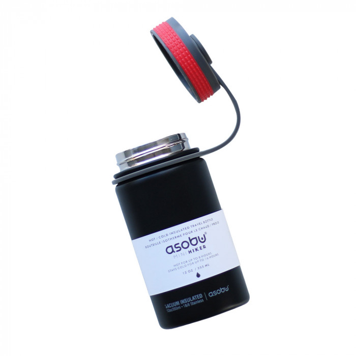 "Thermo bottle Asobu ""Mini Hiker Black"", 355 ml"
