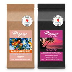 "Kaffeebohnen-Set ""Rigano Papua Neuguinea und Paradiso"", 2 x 1 kg"