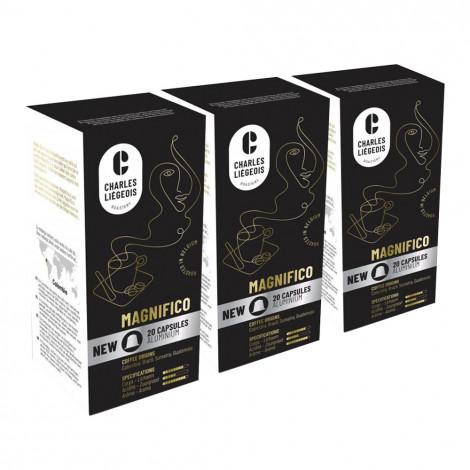 """Coffee capsules set Café Liégeois """"Magnifico"""", 3 x 20 pcs."""