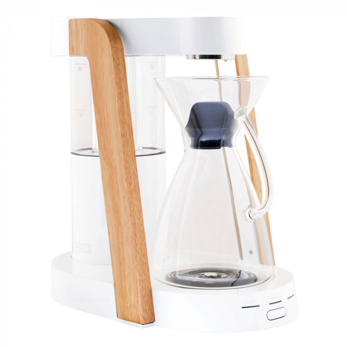 "Filter coffee maker Ratio ""Eight White/Parawood"""