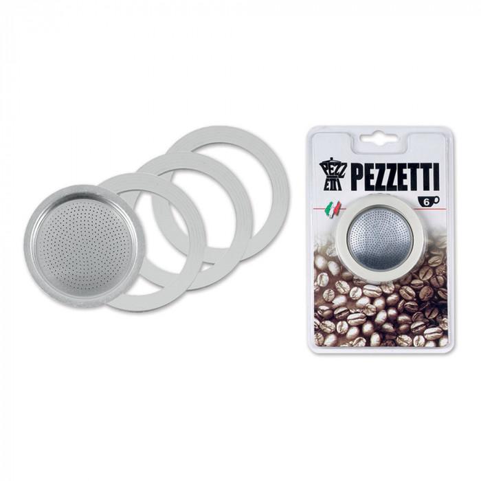"""Kahvinkeitin tiivistesetti Pezzetti """"Blister 6-cup"""""""