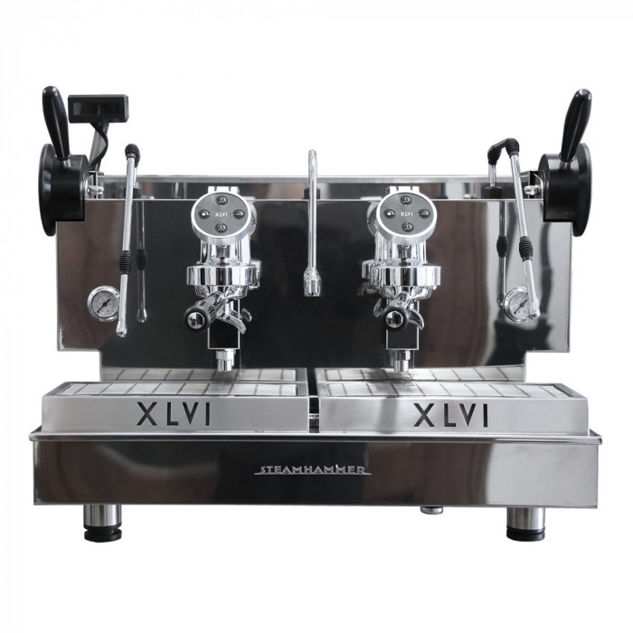 """Kavos aparatas XLVI """"Electronic Steamhammer"""" dviejų grupių"""