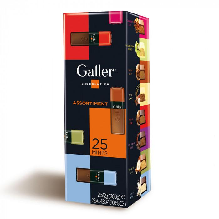 """Šokoladinių batonėlių rinkinys Galler """"Assortment"""", 25 vnt."""