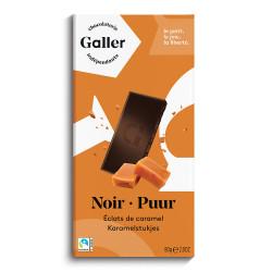 """Šokolaaditahvel Galler """"Noir Eclats De Caramel"""", 80 g"""