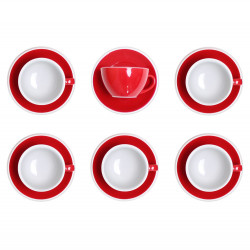 """Cappuccino cup with a saucer Loveramics """"Egg Red"""", 200 ml, 6 pcs."""