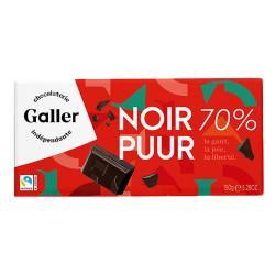 "Šokolaaditahvel Galler ""Noir 70% Intense"", 150 g"
