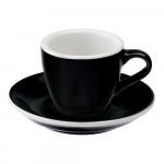 "Espressotasse mit Untertasse Loveramics ""Egg Black"", 80 ml"