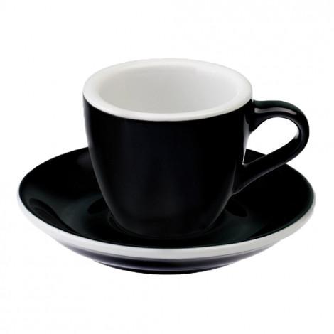 """Espresso kopje met schoteltje Loveramics """"Egg Black"""", 80 ml"""