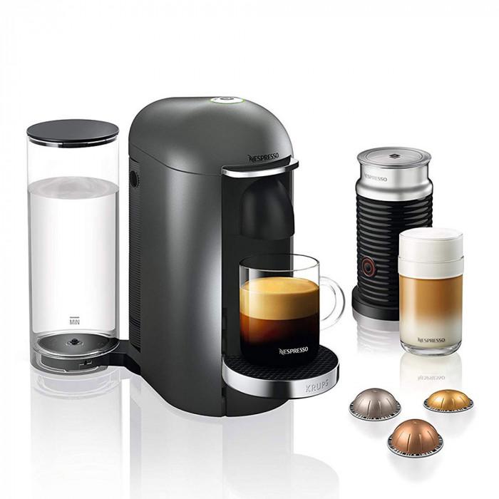 "Coffee machine Nespresso ""VertuoPlus XN902T40 + Aeroccino"""