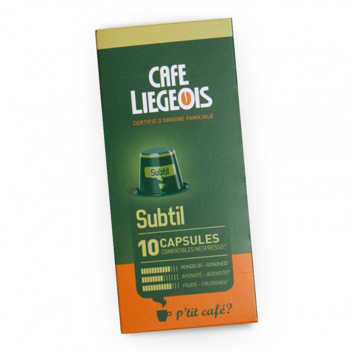 """Kawa w kapsułkach Café Liégeois """"Subtil"""", 10 szt."""