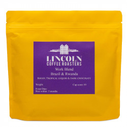 """Coffee beans Lincoln Coffee House """"Work Blend Washed & Natural"""", 250 g"""