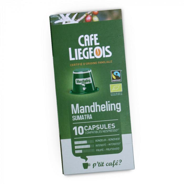 """Coffee capsules Café Liégeois """"Mandheling"""", 10 pcs."""