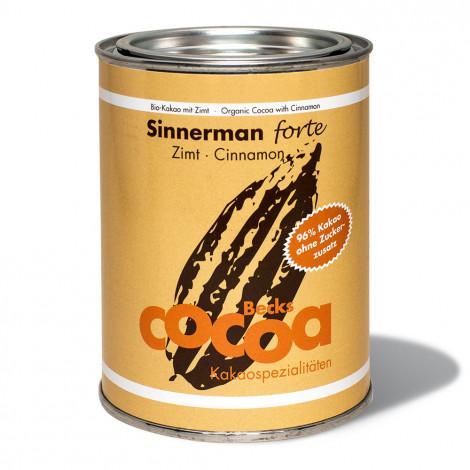 "Ekoloģisks kakao Becks Cacao ""Sinnerman forte"" ar kanēli, 250 g"