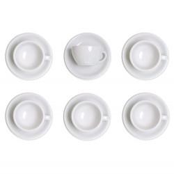 """Set von Cappuccino-Tasse mit Untertasse Loveramics """"Egg White"""", 200 ml, 6 Stk."""