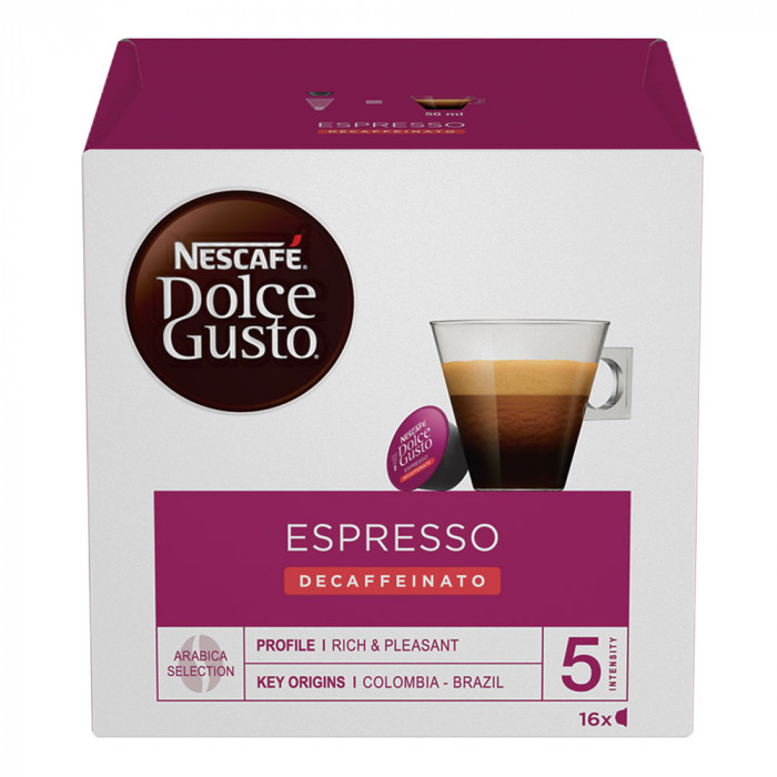 "Kavos kapsulės NESCAFÉ Dolce Gusto ""Espresso Decaffeinato"", 16 vnt."