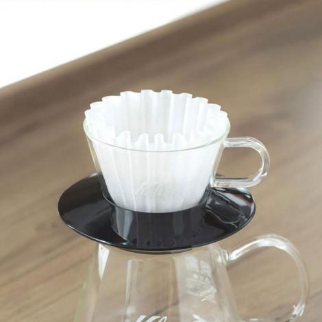 "Glas Kaffee-Tropfer Kalita ""Wave #155 (Black)"""