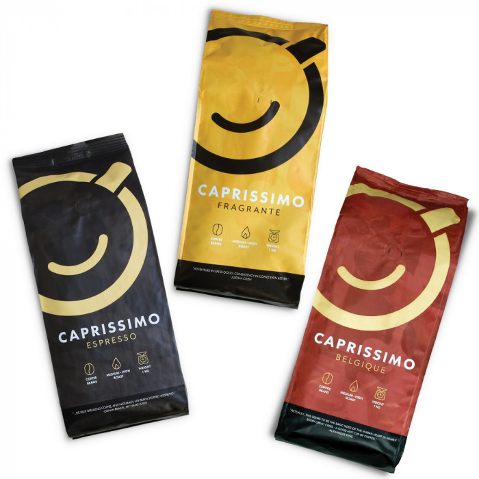 "Kaffeebohnen-Set ""Caprissimo Trio Strong"", 3 kg"
