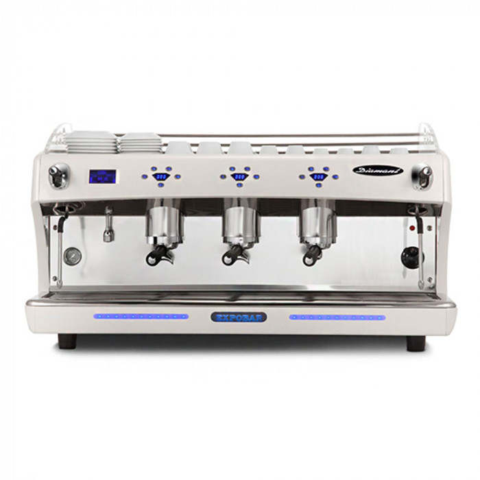 "Coffee machine Expobar ""Diamant PID Glass"" three groups"