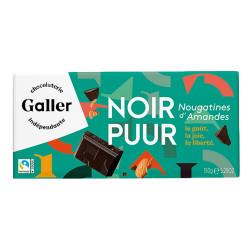 "Šokolaaditahvel Galler ""Noir 70% Nougatine"", 150 g"