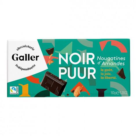 "Šokolādes tāfelīte Galler ""Noir 70% Nougatine"", 150 g"