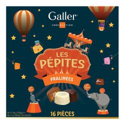"""Pralinenset Galler """"Les Pépites"""", 16 Stk."""