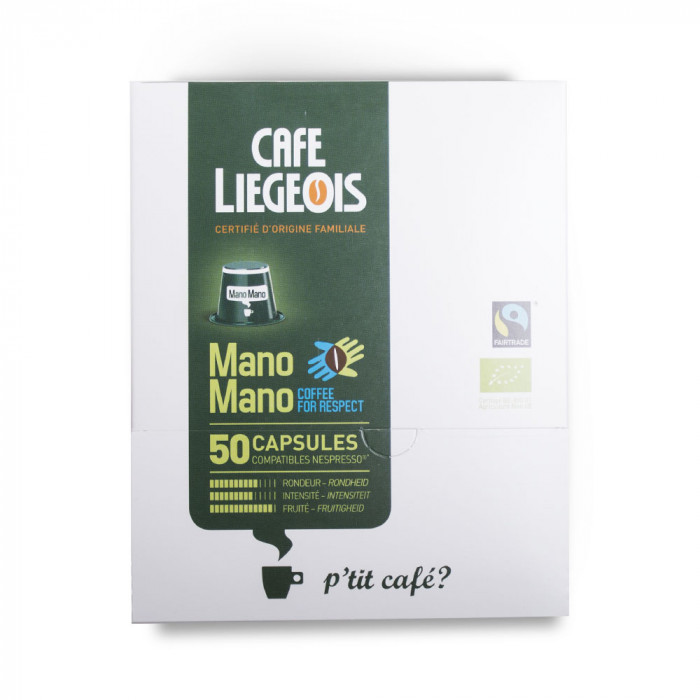 "Coffee capsules Café Liegeois ""Mano Mano"" (50 pc)"
