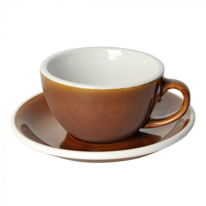 "Cappuccino cup with a saucer Loveramics ""Egg Caramel"", 200 ml"