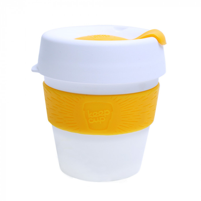 "Kaffee Tasse KeepCup ""White/Yellow"", 227 ml"