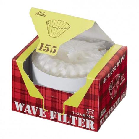 """Popieriniai filtrai Kalita """"Wave #155 White"""", 50 vnt."""