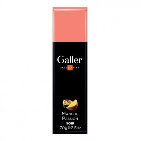 """Šokolādes batoniņš Galler """"Dark Mangue Passion"""", 70 g"""