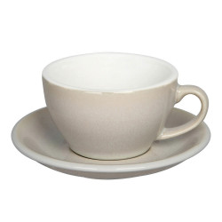"Cappuccino cup with a saucer Loveramics ""Egg Ivory"", 200 ml"