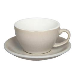 "Cappuccino-Tasse mit Untertasse Loveramics ""Egg Ivory"", 200 ml"