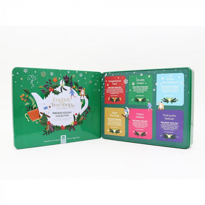 "Tea Enhlish Tea Shop ""Premium Holiday Collection Green Gift Tin – 36ct"""