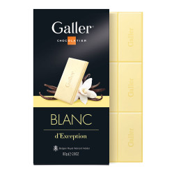 "Šokolādes tāfelīte Galler ""White"", 80 g"