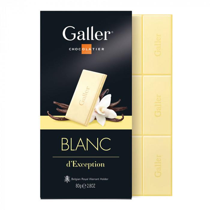 """Šokolado plytelė Galler """"White"""", 1 vnt."""