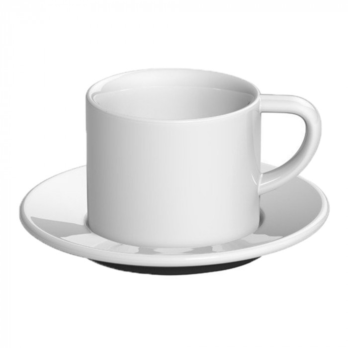 "Cappuccino cup with a saucer Loveramics ""Bond White"", 150 ml"
