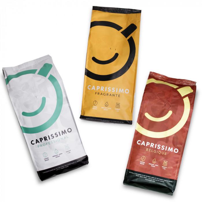 """Zestaw kawy ziarnistej """"Caprissimo Trio"""", 3 kg"""